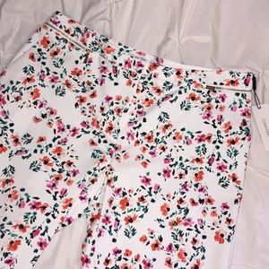 Calvin Klein Floral Crop Pants Sz 14 NWT   E17
